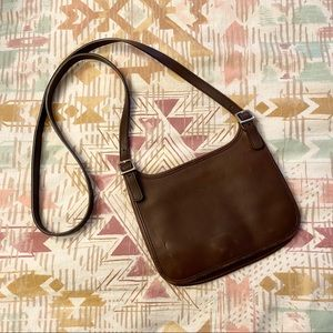 Vintage Coach Brown Leather Crossbody Purse